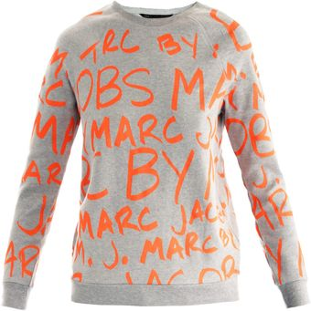Marc By Marc Jacobs Neon Graffiti Sweat Top - Lyst