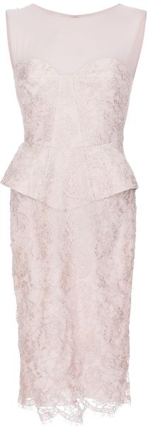 Pucci Lace Peplum Dress - Lyst
