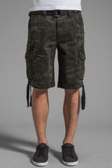 Rock Revival Cargo Short in Black Camo - Lyst