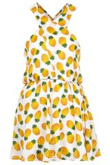 Topshop White Pineapple Print Cover Up - Lyst
