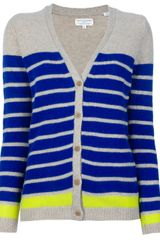 Chinti And Parker Striped Cardigan - Lyst