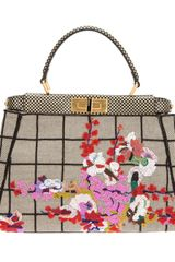 Fendi Peekaboo Beaded Tote - Lyst