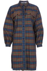 Jil Sander Vintage Checked Shirt Dress - Lyst