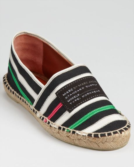 Marc By Marc Jacobs Flat Espadrilles in Black - Lyst