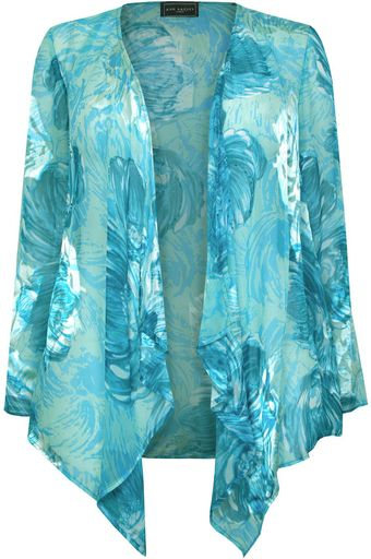 Ann Harvey Swirl Burn Out Jacket - Lyst