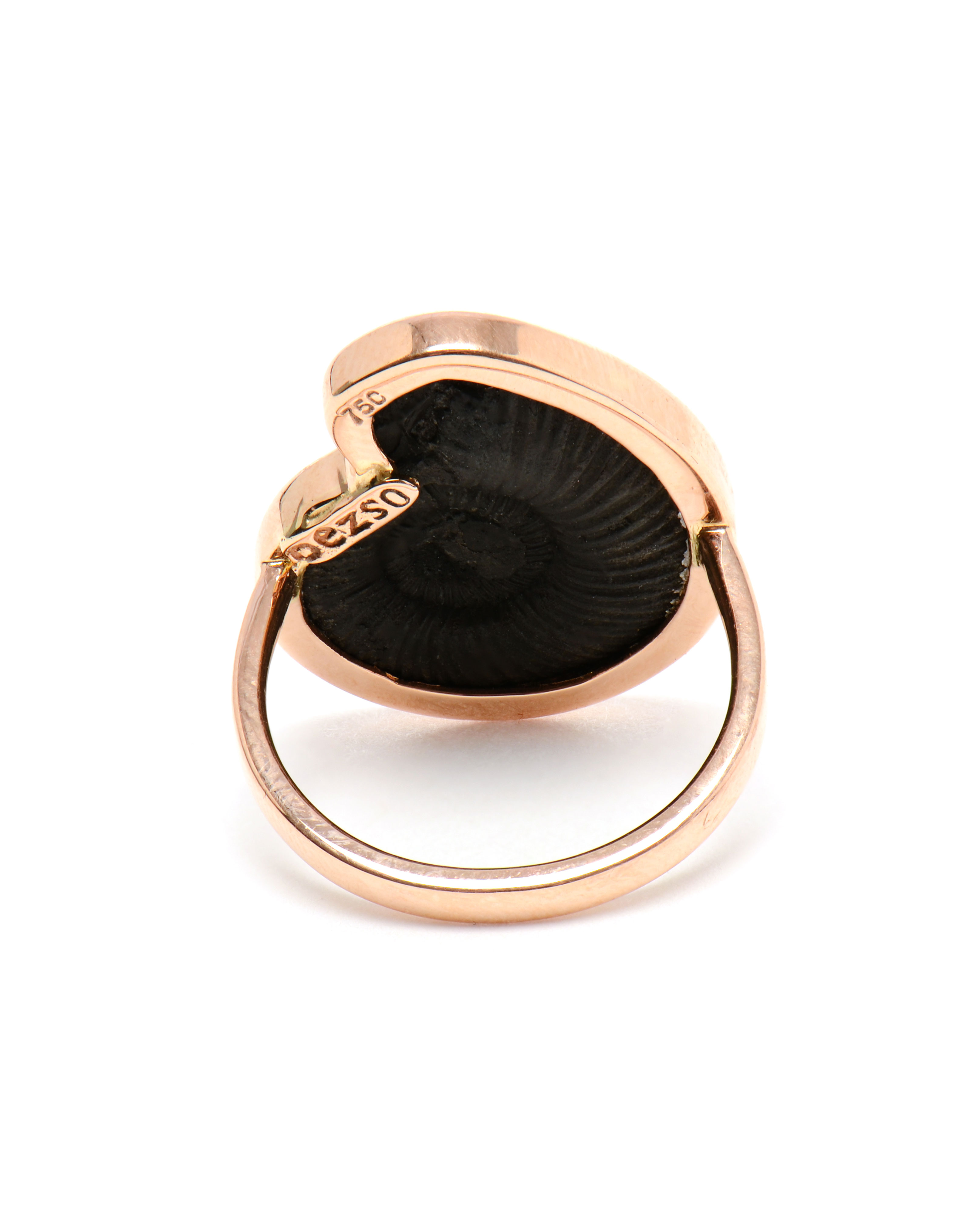 lyst dezso by sara beltran rose gold and black fossil ring in black. Black Bedroom Furniture Sets. Home Design Ideas