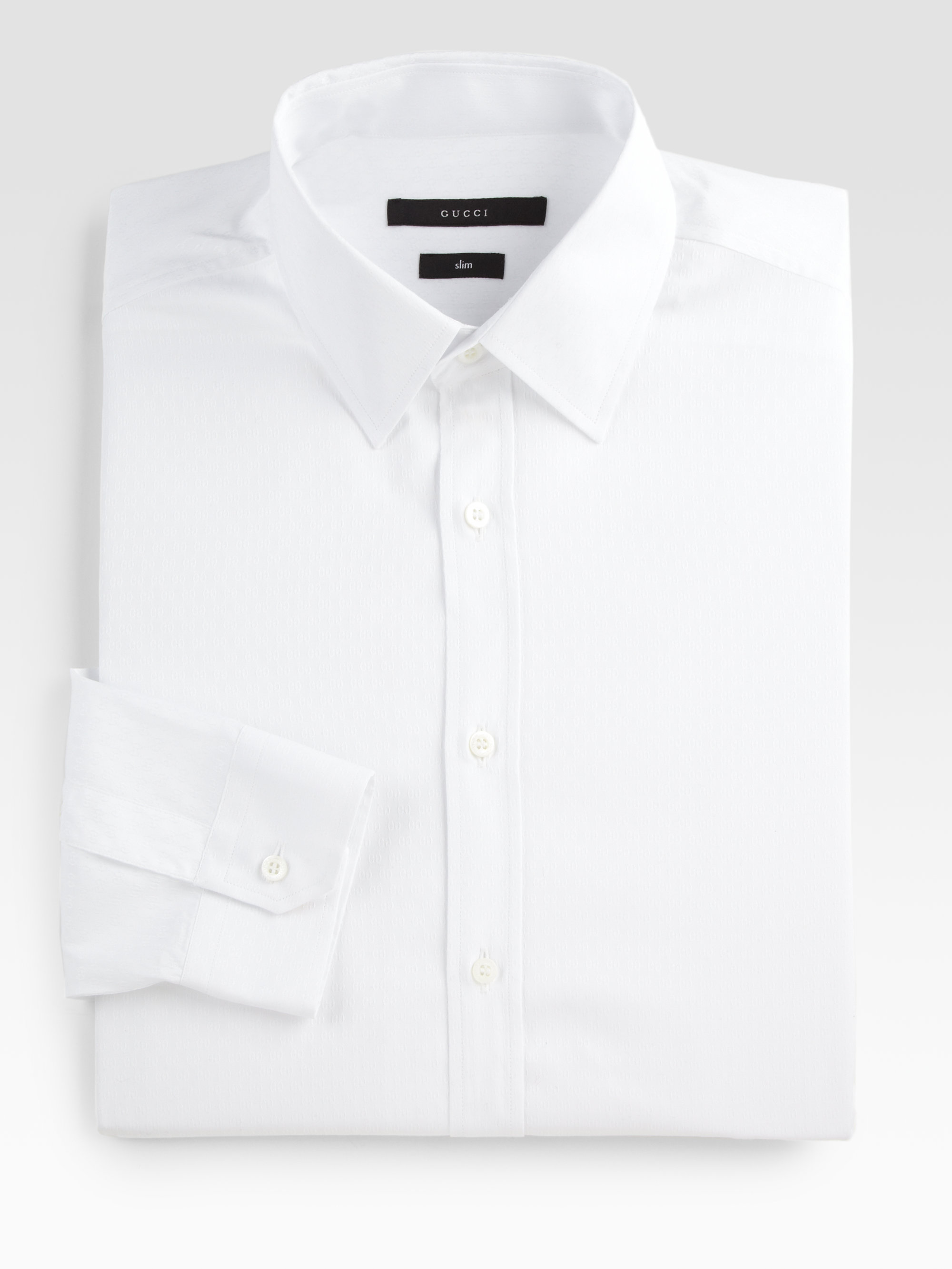 gucci dress shirts for men. gucci solid dress shirt in white for men lyst shirts