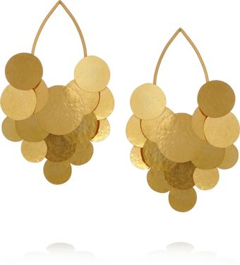 Herve Van Der Straeten Pastilles Hammered Goldplated Earrings - Lyst