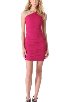 Matthew Williamson Embroidered Asymmetric Bandage Dress - Lyst