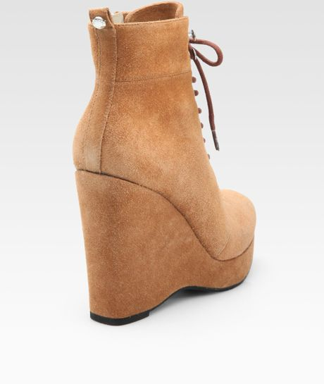 michael michael kors sport suede ankle boots in brown