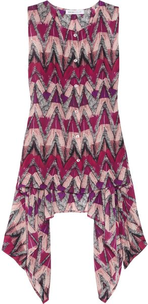 See By Chloé Printed Sleeveless Silk Top - Lyst