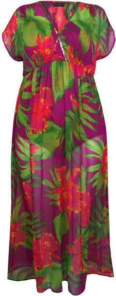 Ann Harvey Tropical Print Maxi - Lyst