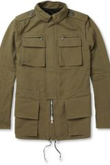 Balmain Cotton and Linenblend Field Jacket - Lyst