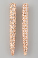 Eddie Borgo Pave Crystal Spike Earrings  - Lyst