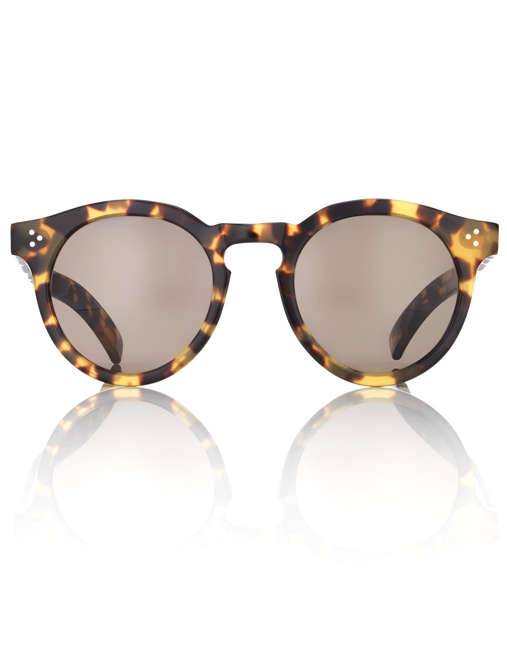Illesteva Sunglasses  illesteva tortoise leonard ii sunglasses in brown lyst