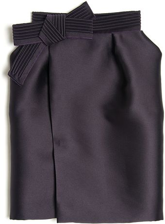 Lanvin Bow Detail Skirt - Lyst