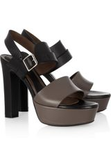 Marni Leather Platform Sandals - Lyst