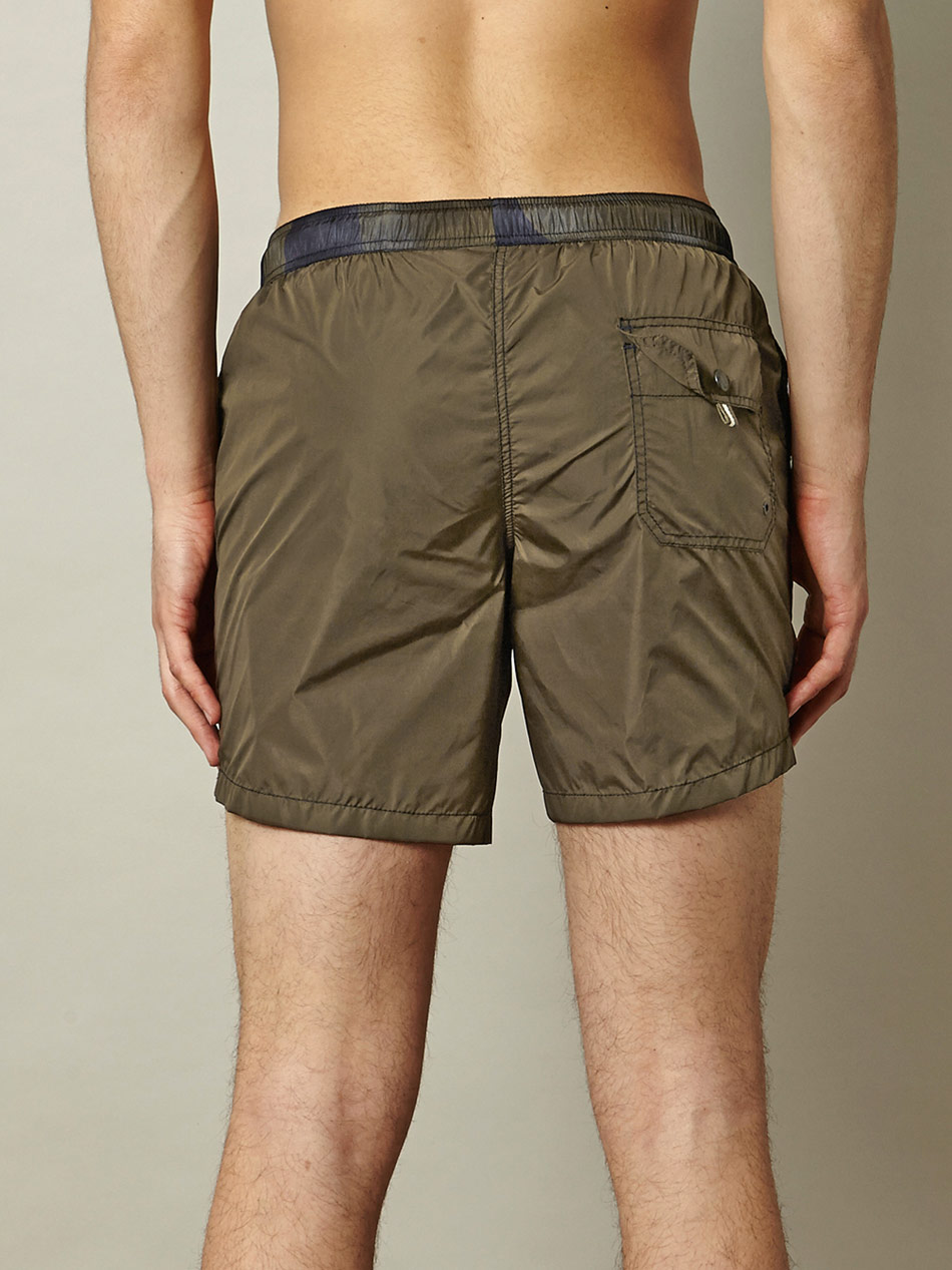 Moncler Camouflage Waistband Swim Shorts in Natural for Men   Lyst