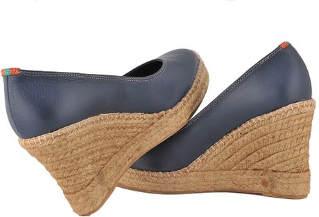 Penelope Chilvers Wedges Penelope Chilvers Navy