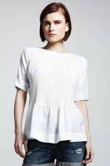 Rag & Bone Ivette Smocked Blouse - Lyst