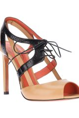 Santoni Lace Up Sandal - Lyst