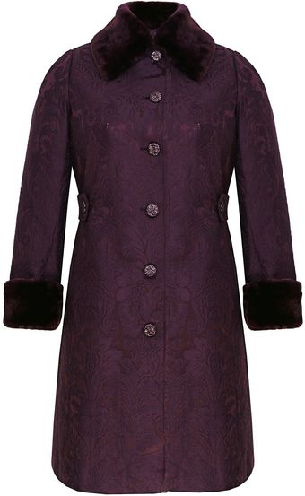 Ann Harvey  Tapestry Fur Coat - Lyst