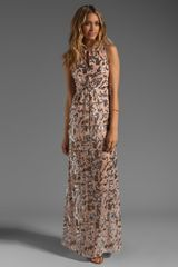 BCBGMAXAZRIA Printed Maxi Dress - Lyst