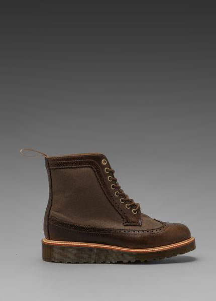 Dr Martens Marcus Brogue Boots In Desert Star Tan In
