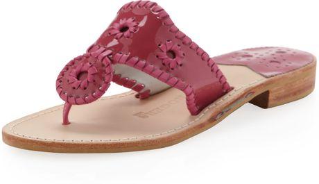 Jack Rogers Key West Sandal In Pink Fuchsia Lyst