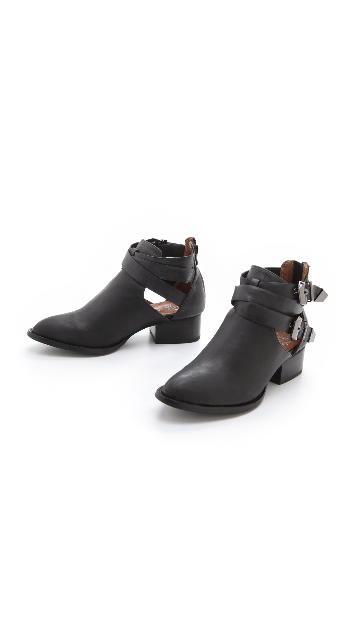 Lyst Jeffrey Campbell Everly Cutout Booties In Black