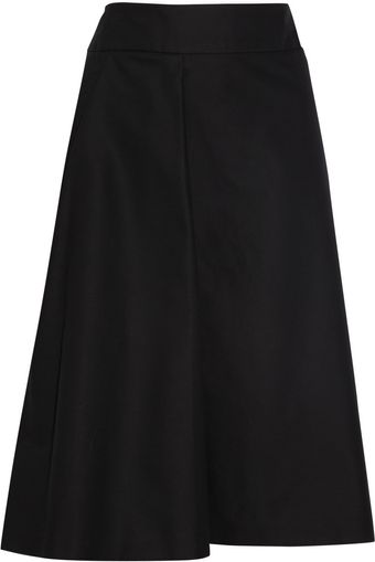 Jil Sander Stretch Cotton Twill Wrap Skirt - Lyst