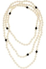 Kenneth Jay Lane Multistrand Faux Pearl Necklace - Lyst
