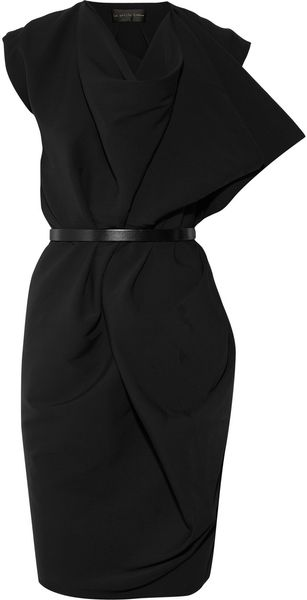 La Petite Salope Draped Crepe Shift Dress - Lyst