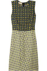 Marni Printed Crepe and Tweed Dress - Lyst