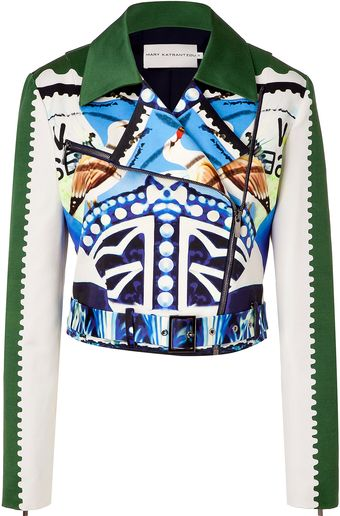 Mary Katrantzou Multicolored Cottonsilk Starsailor Jacket - Lyst