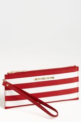 Michael by Michael Kors Small Stripe Zip Clutch - Lyst