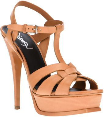 Yves Saint Laurent Platform Sandals - Lyst