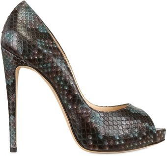 Alexandre Birman 120mm Python Open Toe Pumps - Lyst