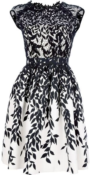 Blumarine Flared Lace Dress - Lyst
