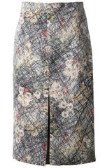 Bottega Veneta Silk Skirt - Lyst