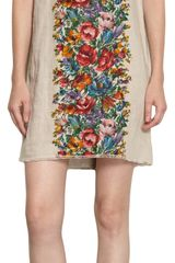 Dolce & Gabbana Button Back Floral Dress - Lyst
