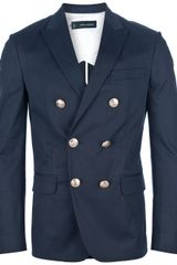 DSquared2 Contrast Double Breasted Blazer - Lyst