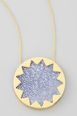 House Of Harlow Sunburst Pendant Necklace - Lyst