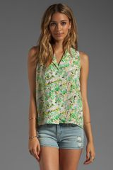 Jeunesse Fanny Poison Flower Sleeveless Blouse - Lyst