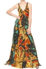 Maiyet Hand Printed Silk Chiffon Dress