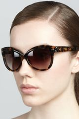 Marc Jacobs Rounded Cateye Sunglasses - Lyst