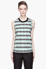 Marni Mint and Black Sleeveless Tshirt - Lyst