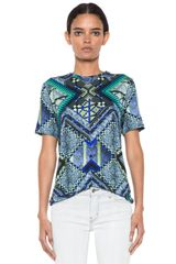 Matthew Williamson Raj Patchwork Tee in Blue - Lyst