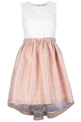 MSGM Embroidered Dress - Lyst