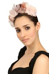 Nana' Ivy Feather Flower Headband - Lyst